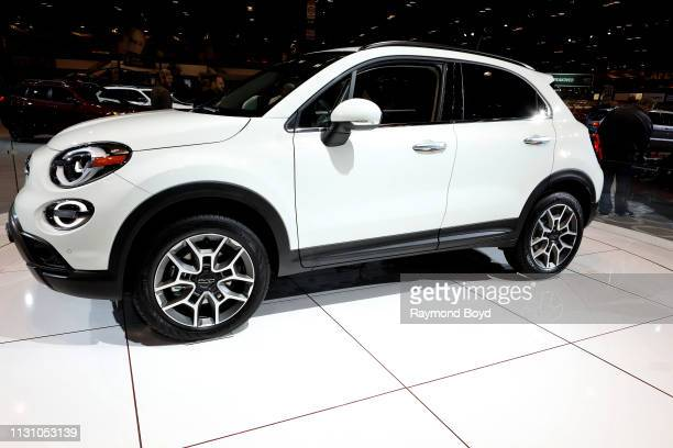 Fiat 500 is on display at the 111th Annual Chicago Auto Show at McCormick Place in Chicago, Illinois on February 8, 2019.