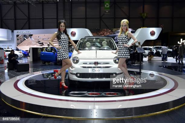 Fiat 500 Sessantesimo is seen during the 87th Geneva International Motor Show on March 8 2017 in Geneva Switzerland The International Motor Show...