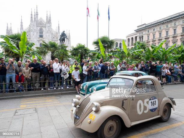 Fiat 500B Topolino during 1000 Miles Historic Road Race on May 19 2018 in Milan Italy