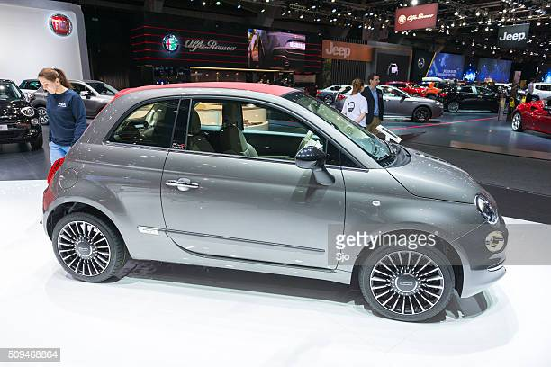 Fiat 500C compact hatchback car with a soft top