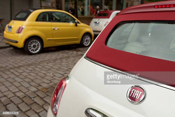fiat 500c cabriolet - fiat stock photos and pictures