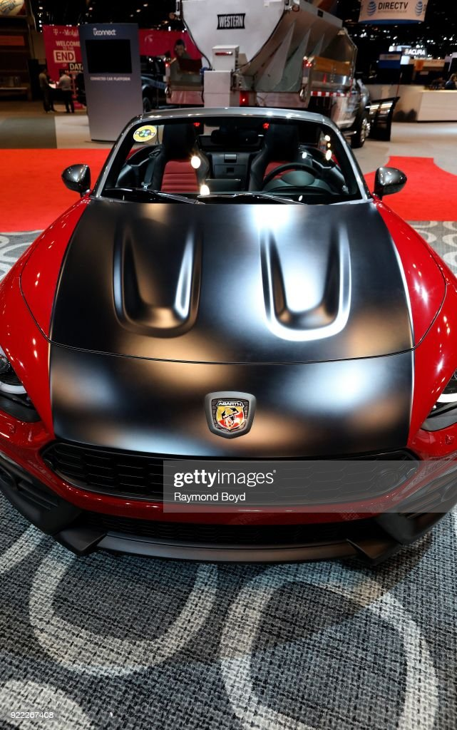 Fiat Abarth is on display at the 110th Annual Chicago Auto Show at McCormick Place in Chicago, Illinois on February 9, 2018.