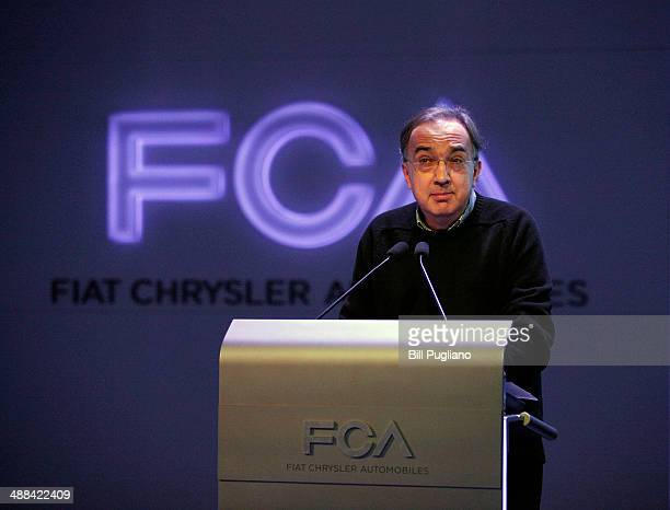 Fiat Chrysler Automobiles Group Chief Executive Officer Sergio Marchionne presents the Group's 20142018 Business Plan to investors financial analysts...
