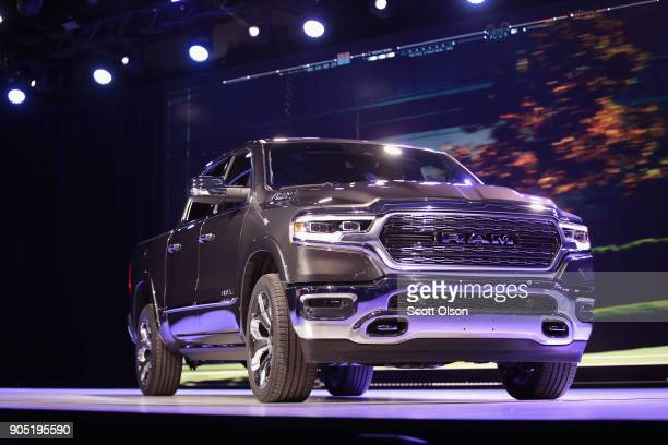 Fiat Chrysler Automobiles introduces the 2019 Ram 1500 pickup truck at the North American International Auto Show on January 15 2018 in Detroit...