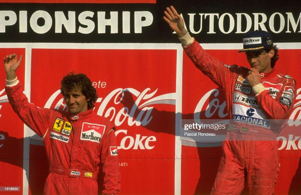 Alain Prost and Ayrton Senna : News Photo
