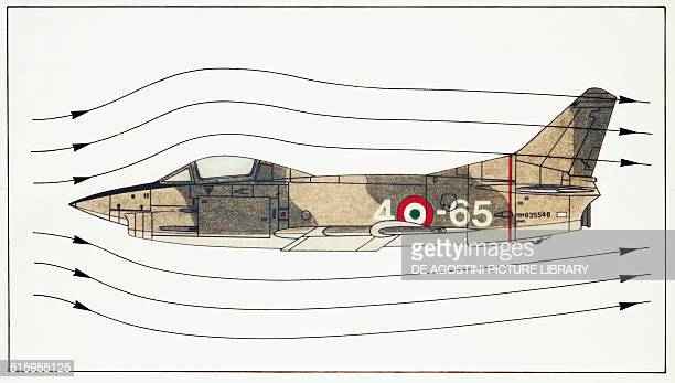 Fiat G91 fighterbomber Italy drawing