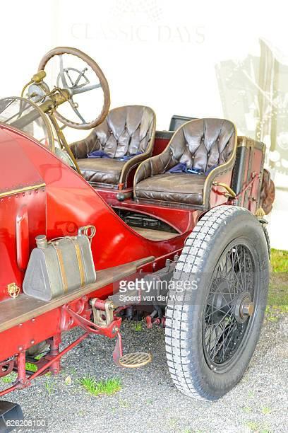 fiat isotta fraschini classic speed record race car detail - sjoerd van der wal or sjo stockfoto's en -beelden