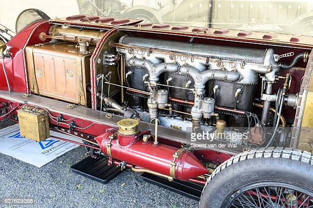 """fiat isotta fraschini classic speed record race car engine - """"sjoerd van der wal"""" stock pictures, royalty-free photos & images"""