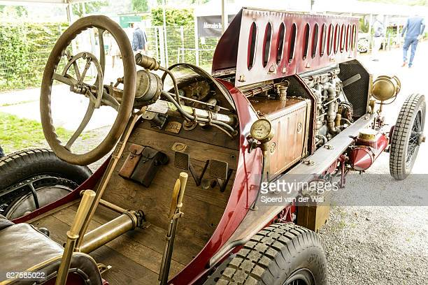 """fiat isotta fraschini classic speed record race car - """"sjoerd van der wal"""" stock pictures, royalty-free photos & images"""