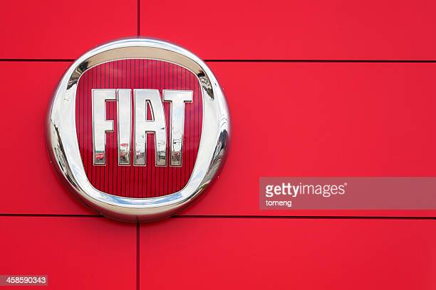 fiat logo and sign - fiat stock photos and pictures