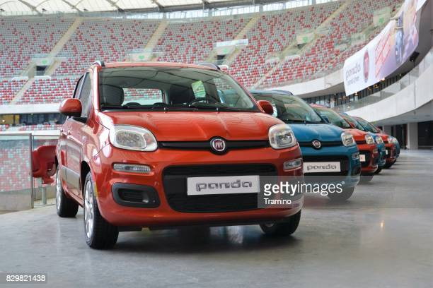 Fiat Panda vehicles on the exposition