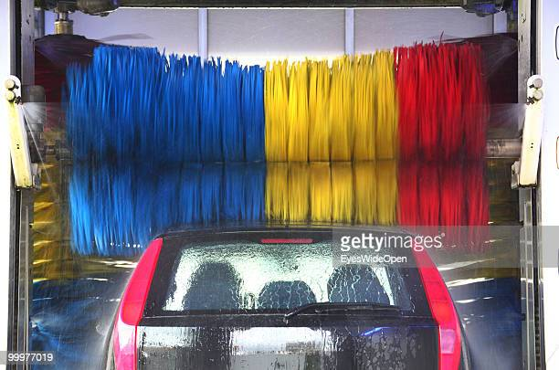 Fiat Punto car in a car wash on May 06 2010 in Bregenz Austria