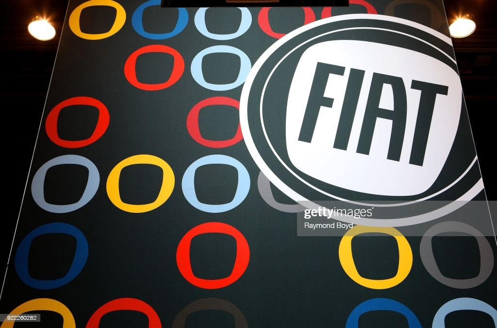 Fiat signage is on display at the 110th Annual Chicago Auto Show at McCormick Place in Chicago, Illinois on February 9, 2018.