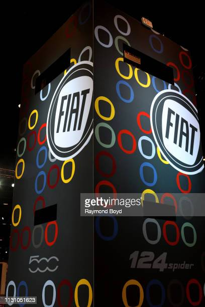 Fiat signage is on display at the 111th Annual Chicago Auto Show at McCormick Place in Chicago Illinois on February 8 2019