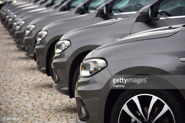 fiat vehicles on the parking - fiat stock photos and pictures