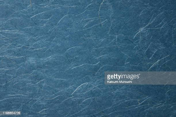 fiber blue paper texture background - washi paper stock pictures, royalty-free photos & images