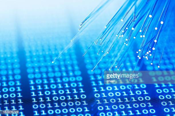 Fiber optics on binary background