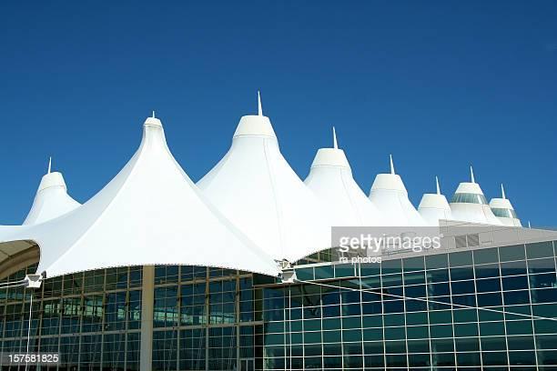 Fiberglass roof of Denver International Airport