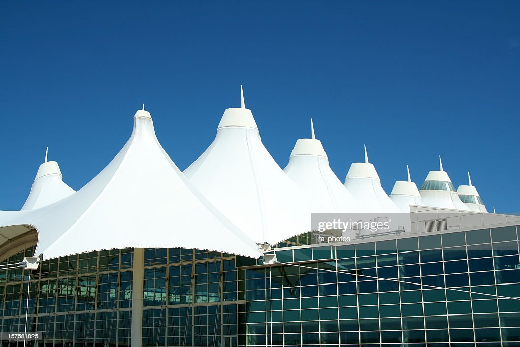 Fiberglass roof of Denver International Airport & Denver International Airport Stock Photos and Pictures | Getty Images