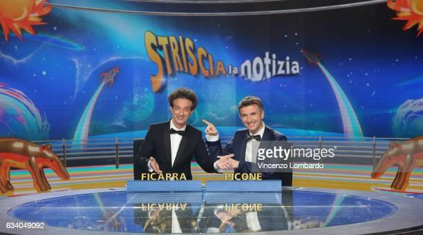 Ficarra e Picone attend the 'Striscia La Notizia' Tv Show on February 6 2017 in Milan Italy