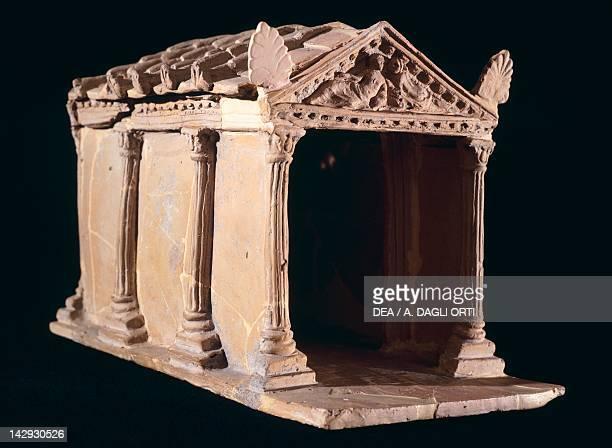Fictile temple model from Vulci Etruscan Civilization 1st Century BC Rome Museo Nazionale Etrusco Di Villa Giulia