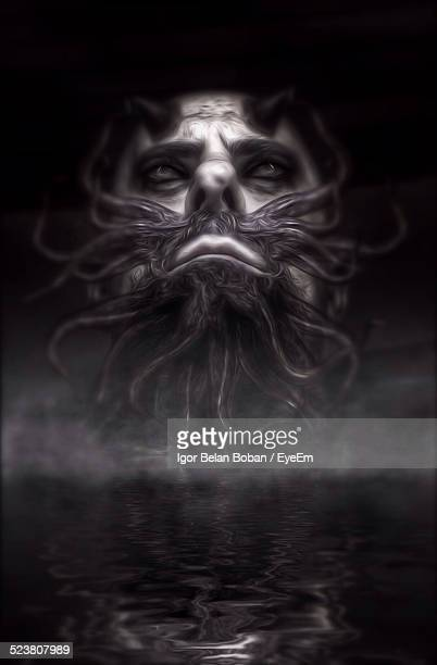 fictional character depicted in smoke - boban stock pictures, royalty-free photos & images