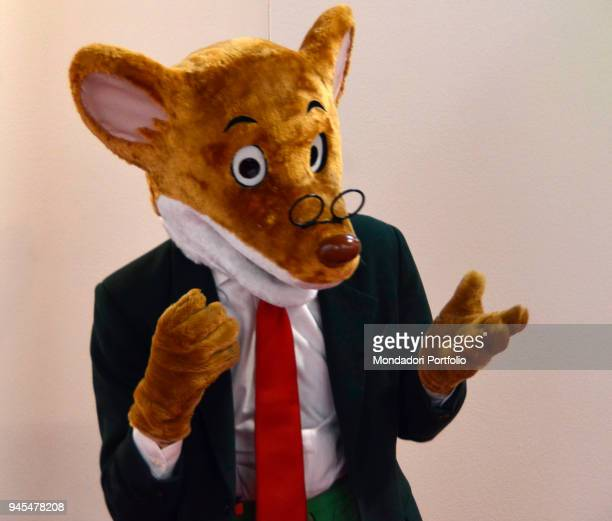 Fictional character Geronimo Stilton attends the first edition of Tempo di Libri a bookfair organised by Fabbrica del Libro a company incorporated by...