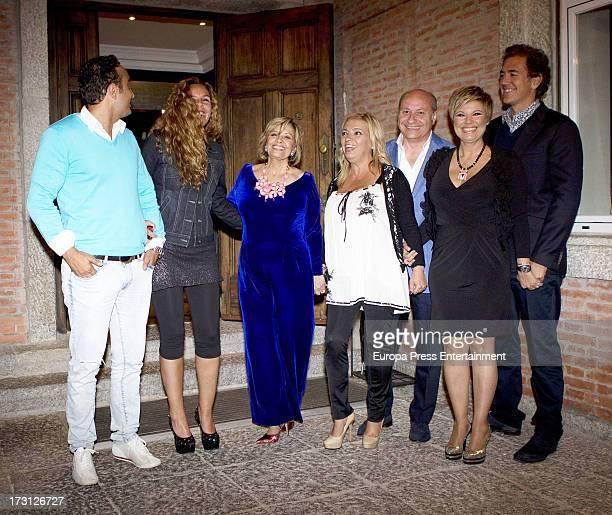 Fidel Albiac Rocio Carrasco Maria Teresa Campos Carmen Borrego guest Terelu Campos and Carlos Pombo attend Maria Teresa Campos 72th birthday on June...