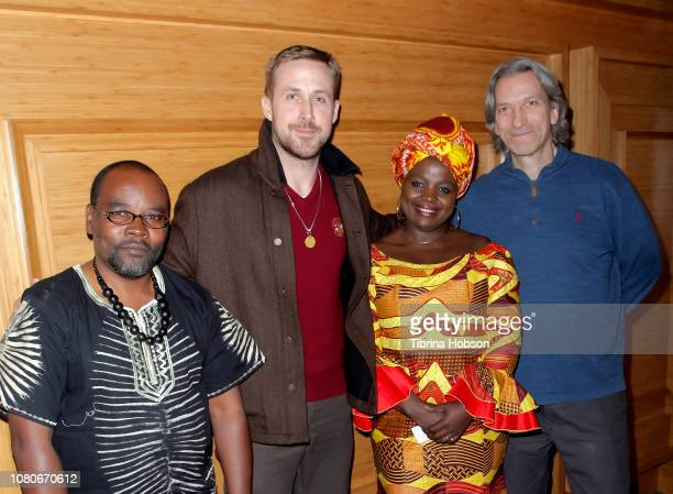 Fidel Bafilemba Ryan Gosling Chouchou Namegabe and John Prendergast attend the discussion and signing for 'Congo Stories' at The West Hollywood...
