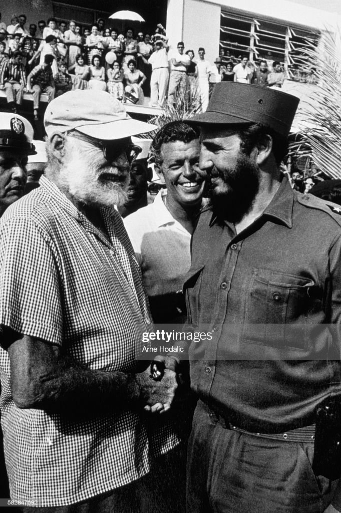 Fidel Castro and Ernest Hemingway in Cuba.