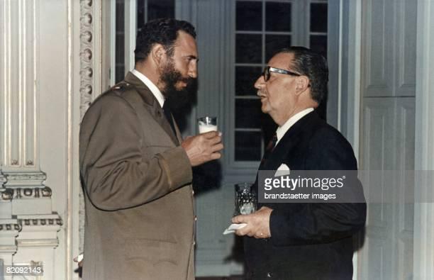 Fidel Castro and Salvador Allende Kuba Photograph Around 1970 [Fidel Castro und Salvador Allende Kuba Photographie um 1970]