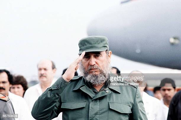 Fidel Castro Cuban statesman Havana in June 1988 FDM5611