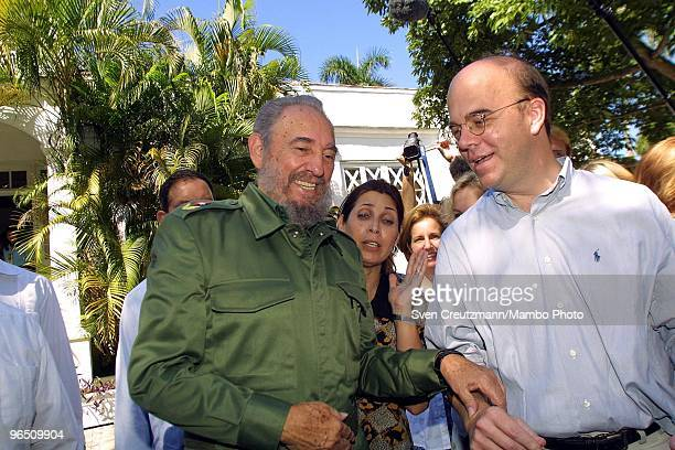 Fidel Castro , Cuba�s head of State and Party, shares a laugh with US Congressman Jim McGovern after signing a treaty between Cuba and the USA in...
