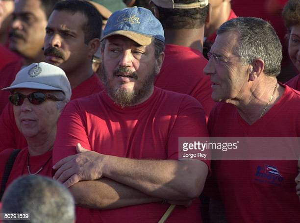Fidel Castro DiasBalart son of Cuban President Fidel Castro attends a May Day rally at Revolution Square May 1 2004 in Havana Cuba Organizers say one...