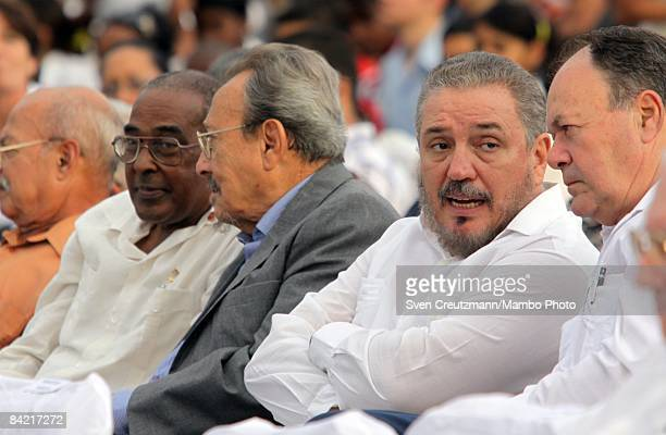 Fidel Castro Diazbalart son of Cuba's ailing Revolution leader Fidel Castro during a political act to commemorate the arrival of the socalled victory...
