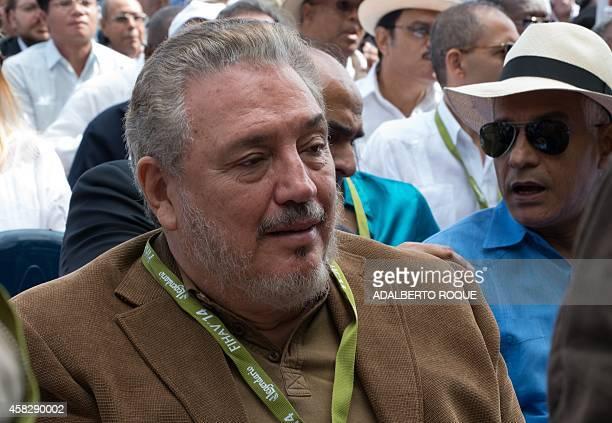 Fidel Castro DiazBalart son of former Cuban president Fidel Castro participates in the inauguration of the 32nd Havana International Fair on November...
