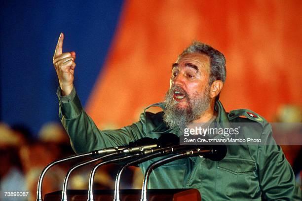 Fidel Castro gives a speech on occasion of the Moncada Anniversary, in Matanzas, Cuba July 26, 1991.