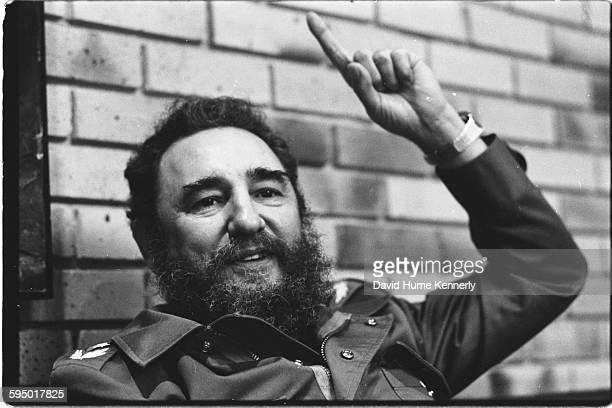Fidel Castro in his office December 1979 in Havana Cuba He was being interviewed by Time Magazine's EditorinChief Henry Grunwald