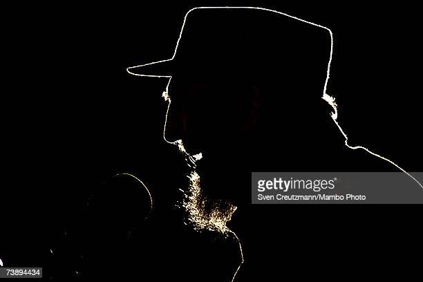 Fidel Castro speaks during the ceremony in which President of Venezuela Hugo Chavez was given the UNESCO Jose Marti award for his efforts in...