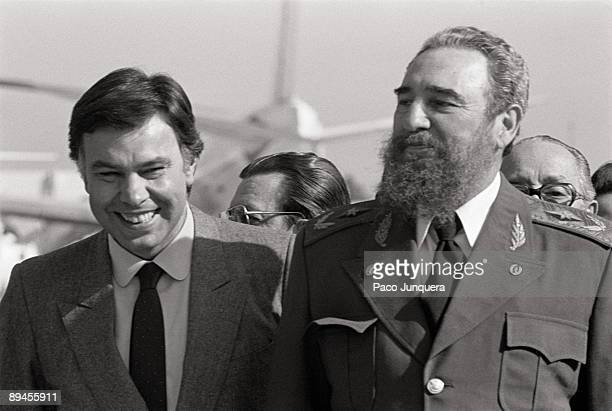 Fidel Castro visits Spain Felipe Gonzalez president of the Government with the commander Fidel Castro