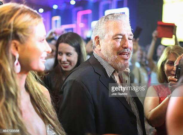 Fidel 'Fidelito' Castro DiazBalart son of Cuban revoloutionary leader Fidel Castro stands near Paris Hilton as they attend the closing gala night for...