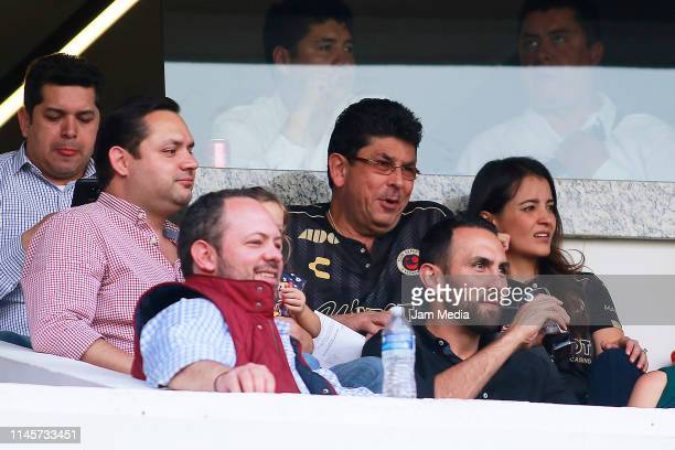 Fidel Kuri, President of Veracruz during the 16th round match between Queretaro and Veracruz as part of the Torneo Clausura 2019 Liga MX at La...