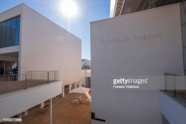 Fidelidade Seguros Plaza at NOVA School of Business and Economics new campus on October 04 2018 in Carcavelos Portugal Nova SBE is a leading school...