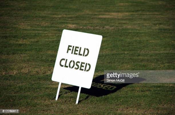 'Field closed' sign in the Domain, Sydney, New South Wales, Australia