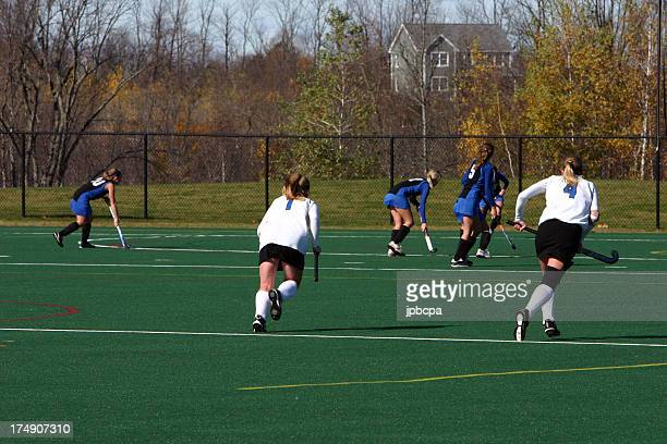 field hockey action - field hockey stock pictures, royalty-free photos & images