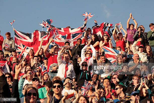 Team Great Britain supporters during the premilnary round game between Great Britain and Japan during the 2012 Summer Olympics on July 29 2012 in...