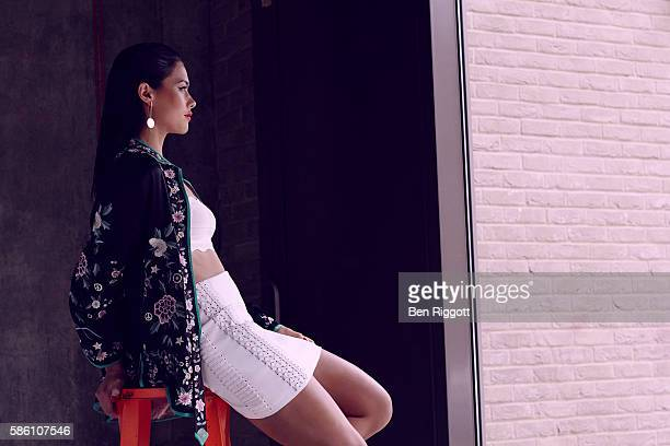 Field hockey player Sam Quek is photographed for Forever Sport magazine on April 18 2016 in London England