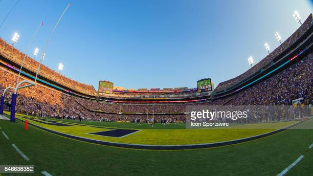 Field level view of Tiger Stadium before a game between University of Tennessee Chattanooga Mocs and the LSU Tigers on September 9, 2017 at Tiger...