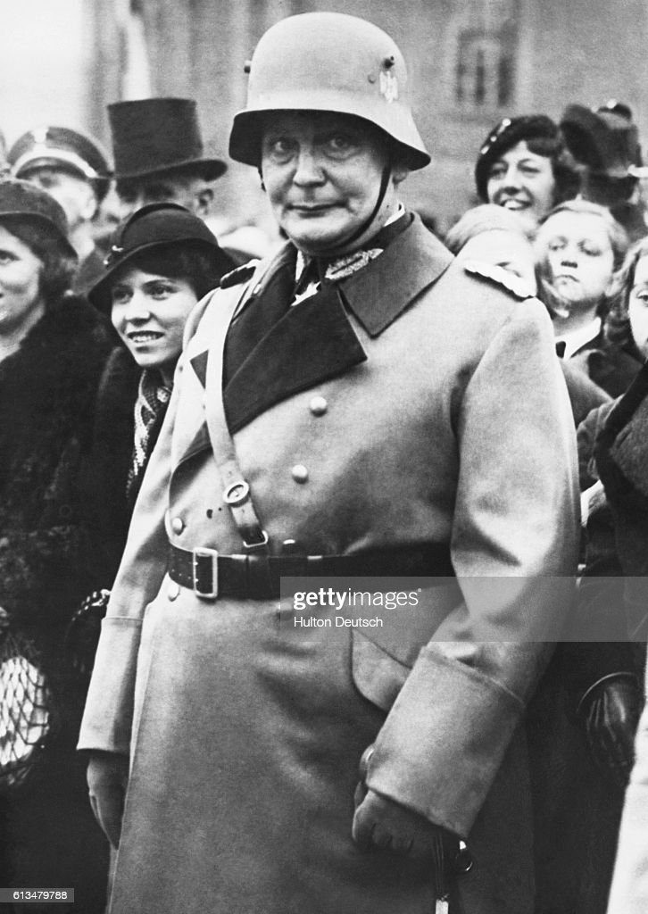 Field Marshal Goering, the commander in chief of the German air force and the second in command of Nazi Germany.