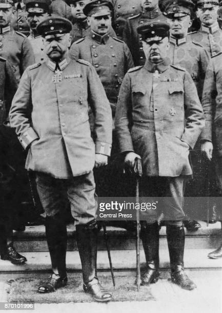 Field Marshal Paul von Hindenburg and General Erich Ludendorff during World War I circa 1915